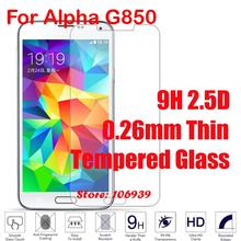 Anti-Explosion Anti-Scratch Cheap 9H 2.5D 0.26mm Phone Cell Accessories Glass Screen Protector For Samsung Galaxy Alpha G850
