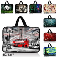 "London Bus 10 12 13 15 17 inch sleeve case carry handbag for laptop tablets notebook soft cover 13.3"" 15.6""computer bag netbook"