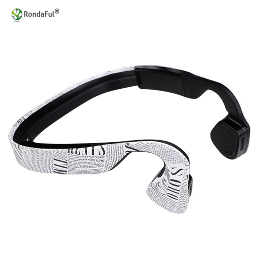 Wireless Bluetooth Stereo Headset BT 4.0 Waterproof Neck-strap Earphone Bone Conduction NFC Earphone Headset Bluetooth Headphone<br>