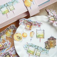 Creative Chinese Lantern Stickers Decorative Stationery Craft Stickers Scrapbooking DIY Stick Label(China)
