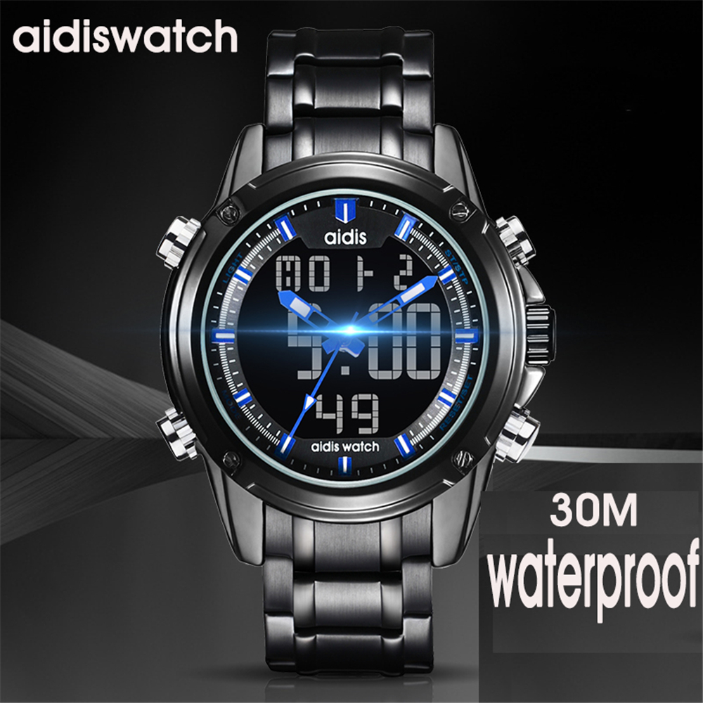 Men Sport Watch Relogio Masculino Electronic Military Luxury LED Male Clock Casual Brand dual display Wrist Watches For Men 2018<br>
