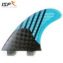 Insurfin Carbonfiber Square Half Carbon Surfboard Fins Thruster Fin Set (3) FCS G5 blue gray red green(China)