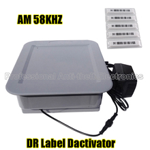 AM 58KHZ soft DR label/DR tag deactivator with alarm for AM eas system DHL free shipping(China)