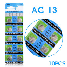 Professional 10 Pcs AG13 LR44 357A S76E G13 Button Coin Cell Battery Batteries 1.55V Alkaline EE6214