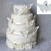 Hot Plastic 2pcs Butterfly Shape Cake Fondant Decorating Sugar craft Cookie Cutters Mold Free shipping