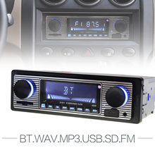 12V Bluetooth Auto Car Radio 1DIN Stereo Audio MP3 Player FM Radio Receiver Support Aux Input SD USB MMC + Remote Control(China)