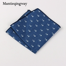 Mantieqingway Suits Cotton Flower Handkerchiefs for Mens Fish Pocket Square Striped Hankies Floral Business Pocket Towel Hanky(China)