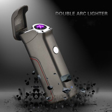 Latest Usb Charge Arc Lighter USB Windproof Personality Electronic Cigarette Lighters Novelty Electric Smoke Cigarette Lighter