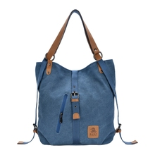 Women Fashion Casual Canvas Multifunctional Messenger Bag(China)