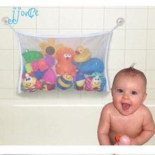 Hot Selling Kids Baby Bath Tub Toy Tidy Storage Suction Cup Bag Mesh Bathroom Organiser Net(China)