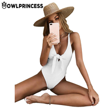 Buy Owlprincess Bow Tie Bodysuit Sexy 2018 Summer High Cut Backless One Piece Bikini Women Bandage Body Suit Bath Swimwear Swimsuit for $12.09 in AliExpress store