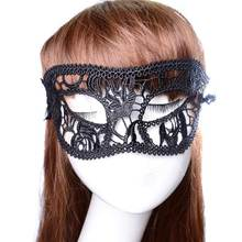 1PC Festive Supplies Sexy Mask Black Fancy Dress Lace Mask Masquerade Halloween Mask Mesh Floral Costume Female Masks Party