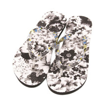 High quality Women Flowers Sandal Home Toepost Flip Flops Slippers Beach Shoes