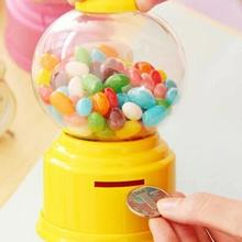 Mini Money Pot Box Saving Coin Box Christmas Funny Mini Twist Candy Machine Plastic Candy Machine Piggy Bank Toy Randomly Color