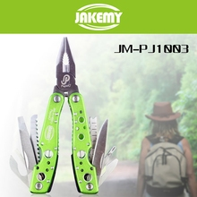 9 in 1 Multifunctional Folding Tools Outdoor Plier Scaling Knife Cross Screwdriver Bottle Opener Saw Flier Hiking Camping Tool(China)