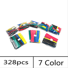 328pcs Assorted Heat Shrink Tube 7 Colors 8 Sizes  Electrical Insulation Cable Tubing Kit