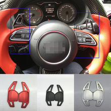 TTCR-II steering wheel DSG paddle shifters for Audi A3 A4L A5 A6 A7 A8 S5 Q5 Q7 TT 2013 2014 Paddle Gearbox Accessories cover(China)