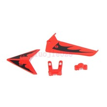 S107-03 Red Fin Tail Decoration Set  For Syma S107G RC 3CH Gyro Helicopter Parts