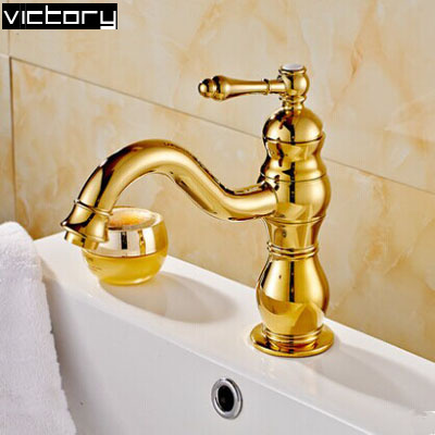 Gold color washbasin faucet 360 ronating sink tap Antique bathroom faucets water faucet for bathroom<br><br>Aliexpress