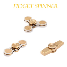 Buy Hand Spiner Copper Tri-Spinner Fidgets Toy EDC Sensory Fidgets Spinner Autism ADHD Kids/Adult Funny Anti Stress Toys for $12.76 in AliExpress store