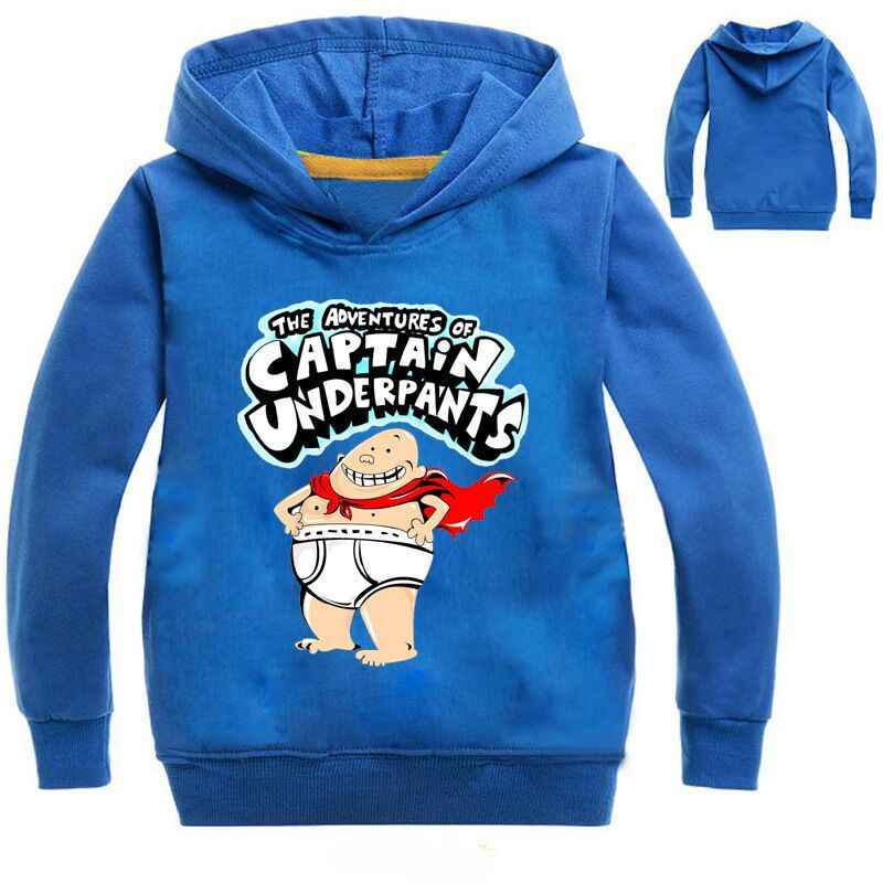 New Captain Underpants Boys Girls unisex full Zip tops hoodie size 4 to 10 year