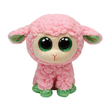 "Ty Beanie Boos 6"" 15cm Babs Lamb Plush Stuffed Animal Collectible Big Eyes Sheep Doll Toy"