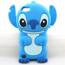 Lilo 3D Cartoon Stitch Soft Silicone Silicon Case Cover for Apple iPod Touch iTouch 4 4G 5 5G 1pcs/lot