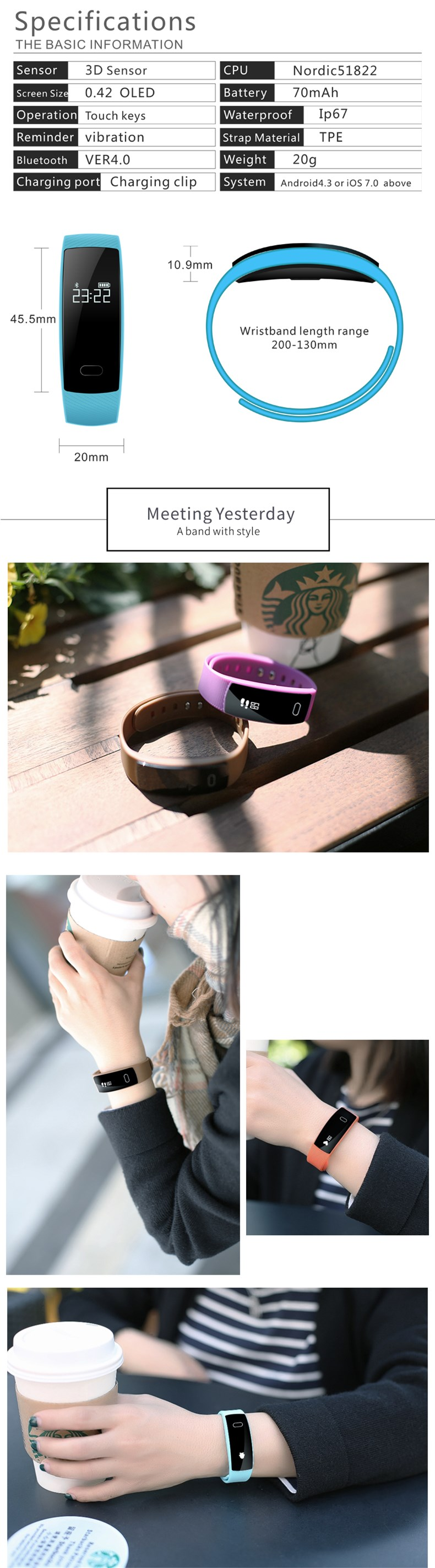 HUINIU QS80 Bluetooth Smartband Message Reminder Smart Band Blood Pressure Wristband Fitness Tracker Bracelet for IOS Android 5