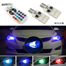 2x RGB T10 LED Car Parking Light Bulb Remote Control For Infiniti FX35 Q50 G35 FX G37 QX56 QX70 FX37 EX35 M35 QX60 QX4 FX50 G25