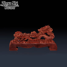 Katana bracket wood carved dragon design home accessories Katana sword rack Red solid wood support