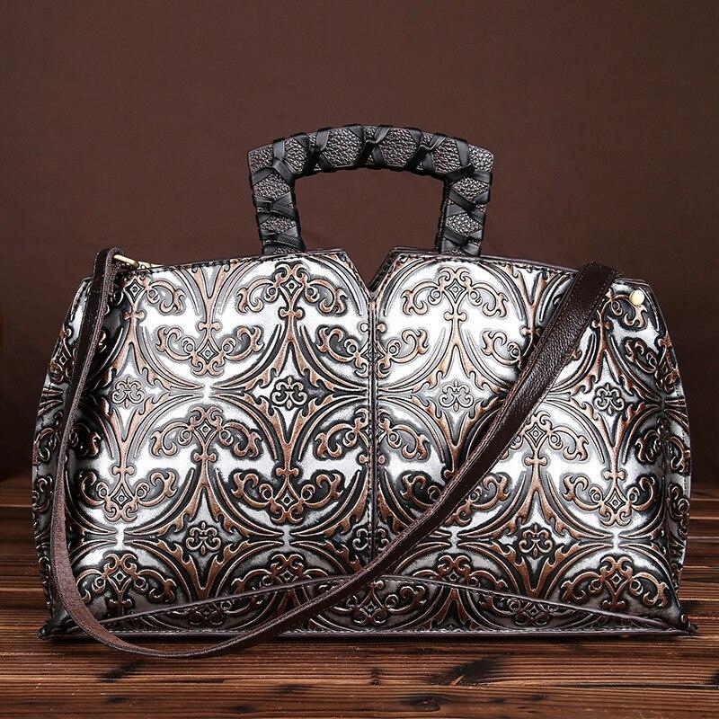 Leather retro hand-wiping color diagonal package embossed handbag hand bag leather shoulder bag handbag<br><br>Aliexpress