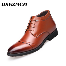 DXKZMCM 2017 Microfiber Leather Winter Warm Snow Men Boots Ankle Boots Fashion Man Footwear(China)