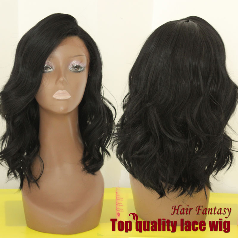 Glueless Heat Resistant Fibre Black Body Wavy Synthetic Lace Front Wig for Black Women 12-18 Fast Delivery Safe Shipment<br><br>Aliexpress