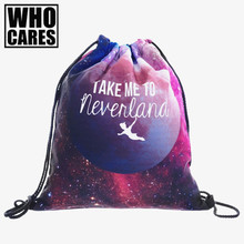 Star Text 3D printing mini backpack women Travel Casual who cares backpack men Trend line mochila feminina drawstring bag bags