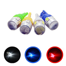4X Auto Car Lights Bulbs 5630 5730 SMD 6 LED 6SMD T10 W5W 194 168 12V White Blue Red Yellow Interior Parking Width Wedge Lamps