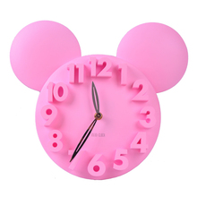 New fashion digital wall clock home decoration diy clocks Living Room children bedroom adornment wall clock,pink, blue,black(China)