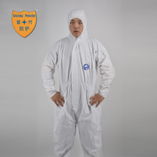 SF Breathable non-woven fabric coverall disposable workwear hospital cleanroom medical protective suits work suit with cap