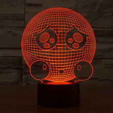 7 Color Grievance Expression Lamp 3D Visual Led Night Lights for Kids Touch USB Table Lampara Lampe Baby Sleeping Nightlight(China)