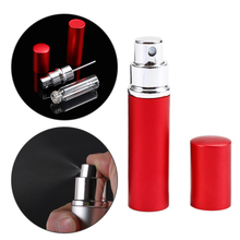 5ml Mini Portable Refillable Perfume Atomizer Spray Bottles Empty Bottles Aluminium Shell Empty Glass Container Drop Shipping(China)