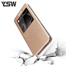 For BQ BQS-5070 Magic Case Protective PU Leather Case Side Open Mobile Phone Cases For BQ 5070 Cover With Viewing Windows(China)