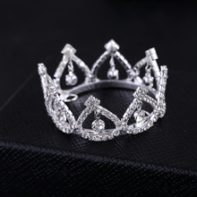 2017 Special Offer Direct Selling Tiaras Trendy Zinc Alloy Mini Rhinestone Round Tiara Crown