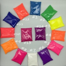 10g per color Fluorescent Powder Pigment for Paint Printing ,Soap Neon powder ,Nail Art Polish
