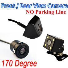 Car Parking Assistance View Camera Or Parking Monitor 4 LED HD CCD Wire Car Rear View Camera Waterproof No Parking Line(China)