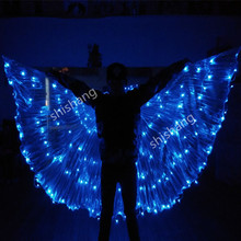 PF001 Colorful LED light luminous cloak Ballroom dance costumes wing dress suit dj dicso bar stage show party bellydance wears