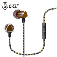 QKZ X36M Enthusiast Bass ear Headphones Copper Forging 7MM Shocking Anti-noise With Microphone Sound Quality Original
