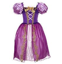 Sofia Cinderella Rapunzel Belle Snow White Girl Kid Short Sleeve Princess Dress Up Teenage Halloween Party Dress Cosplay Costume(China)