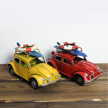 1PC Cube Metal Decoration Beetle Car with Vessel Lifebuoy Cafe Bar Furnishings Home Table Decoration Accessories Metal Craft