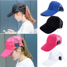 Brief Unique Baseball Cap Wireless Bluetooth Sun Hat Headset Earphones Speaker Mic New(China)