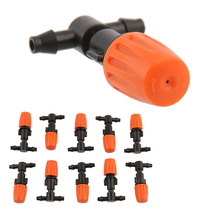 10PCS/LOT Drip Irrigation System10pcs Plastic  Atomizing sprinkler Nozzles Greenhouse Garden Riego Por Goteo  Drop Shipping