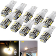 Specilized Manufacturer Product 10X Warm White T10 10-SMD 360 Beam Angle Car Side Wedge LED Light Lamp Bulb W5W 194 168 2825